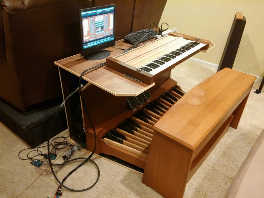 MIDI Conversion of Organ Manuals and Pedals – Virtual Pipe